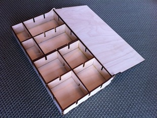 Electronics Components Box, no hardware needed
