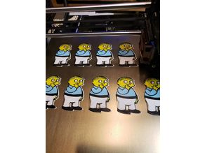 ralph wiggum 4 color multi print