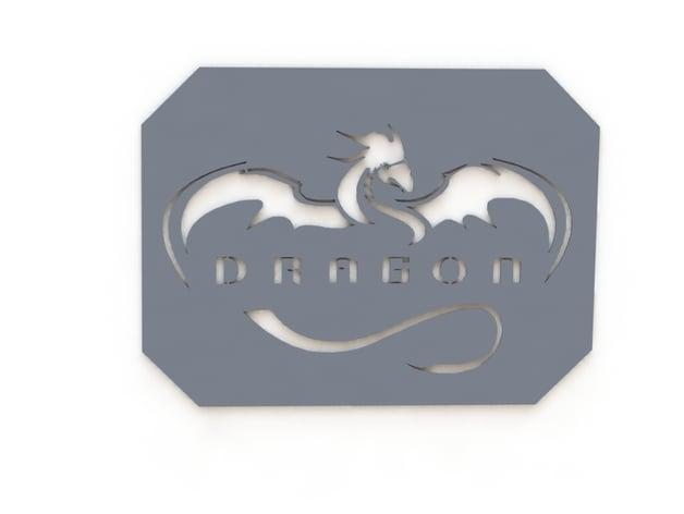 SpaceX Dragon Logo Stencil by ForgeMonkey - Thingiverse