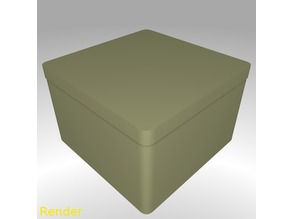 Square Shaped Box Rounded - Large