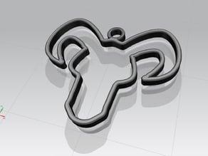 1° - Capricorno stilizzato, segno Zodiacale - stylized Capricorn, Zodiac sign