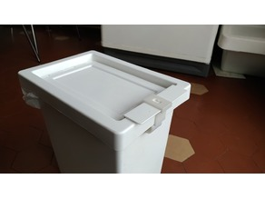 Lid lock for IKEA Filur trash bin