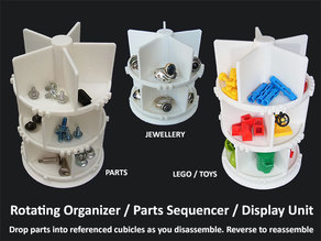 Rotating Organizer / Parts Assembly Sequencer / Display Stand