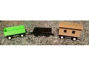 Modular Thomas the train trackmaster rail car wagons