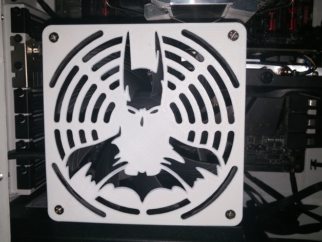 Batfan Batman 120mm Fan Grill By Scootnfast Thingiverse