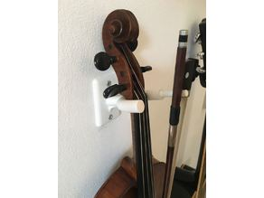 Wall mount for violin/viola and bow