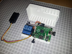 raspberry Pi A+ + 2 relay module HL-526 V1.0 case