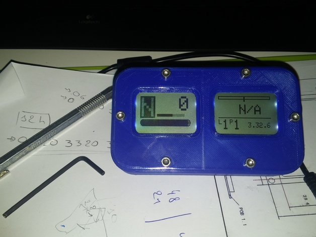NOKIA 5110 LCD based arduino sim racing dashboard by Wotever