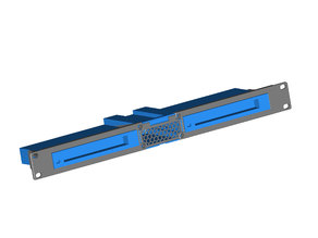 Modular 1U Relay Rack Mount for TP-Link TL-SG108 or Netgear GS308 8 port switches (with STEP file)
