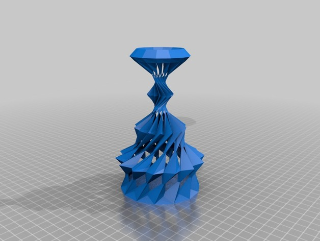 Funky Vases Overzealous Aquarian Vase By Tortoisehawk Thingiverse