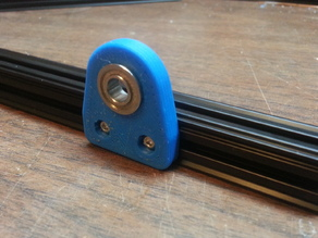 Openbeam bearing edge mount
