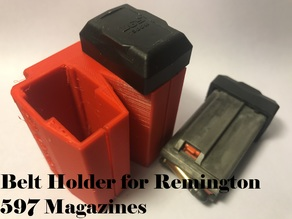 Belt Holder for Remington 597 Magazines