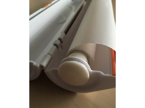 roll holder for cling film cutter adapted on diameter of sandwich paper roll