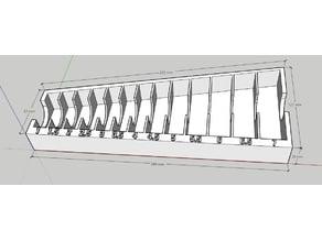 Drill bit storage tray - 1 - 7 mm