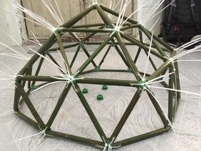 Geodesic dome nodes for small and large domes