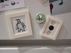 Customizable Fridge Magnet Picture Frame