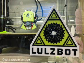 Lulzbot Logo Layered for Single/Dual Extrusion