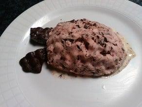 Raspberry Ice Pie w choc chunks