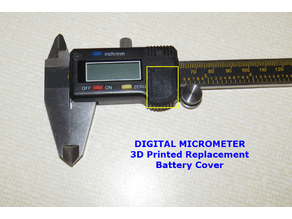 Replacement Battery Cover for Digital Micrometer