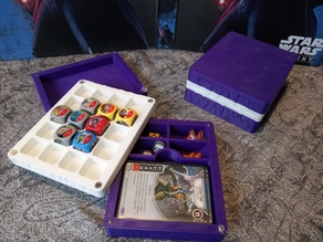 Destiny Deck Dice & Token Holder with Rolling Tray Lid