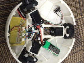 Omni wheels robot