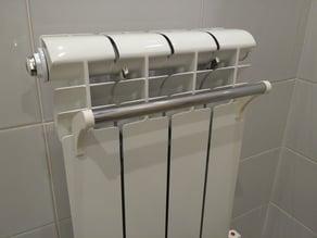 Radiator towel holder