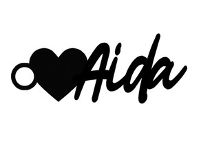 Love / Heart Aida Keychain