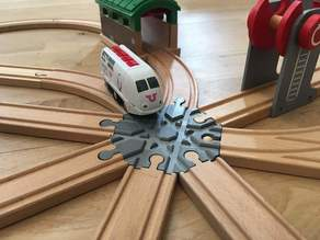 Wooden train track intersection : 8 ways (Brio / Ikea ...)