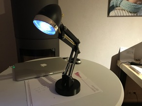 Desk lamp with a bicycle head light