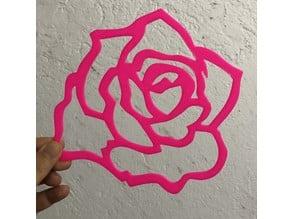BRAZILIAN ROSE  wall art /decoration