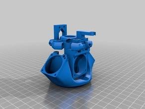 Cabeça impressão Kossel Mini E3d-V5 + zprobe + cooler circular PROTOTIPO Versão 0.1.4