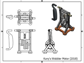 Wobbler Motor runs on less than 4psi compressed air