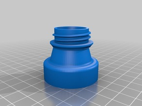 Large Mouth Oil Bottle to Standard Thread Adapter