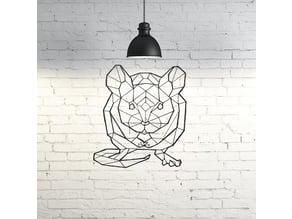 Rat Wall Sculpture 2D