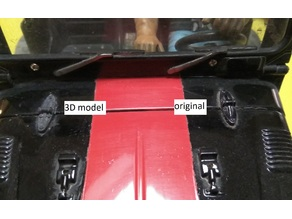 Marui Super Wheelie Toyota Land Cruiser hood hinge