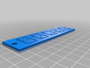 Parametric Braille Name Plates/Keyrings