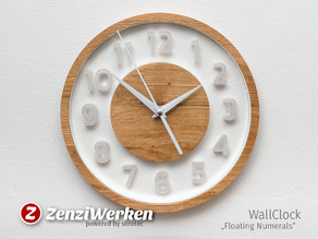 "WallClock ""Floating Numerals"" cnc"