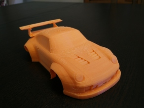 Porsche 911 GT2 Slot Car Body