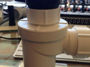50mm to 40mm threaded low profile plumbing adapter