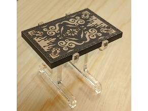 (Laser Cut) Flying Carpet Mini  w/ Stand (Surface Art Separate!)