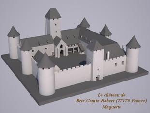 Le chateau de Brie-Comte-Robert (77170 France)