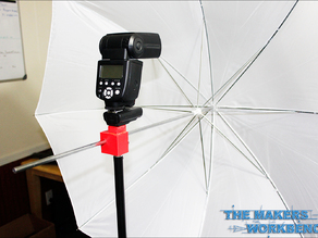 Strobist style umbrella holder for light stands.