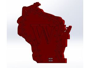Wisconsin State Cribbage Board