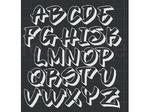 Graffiti Fonts Alphabet 2D Wall art