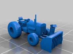 N scale Tractor with snowblower
