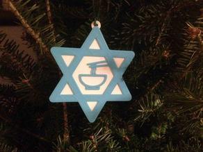 Jewish Christmas Ornament