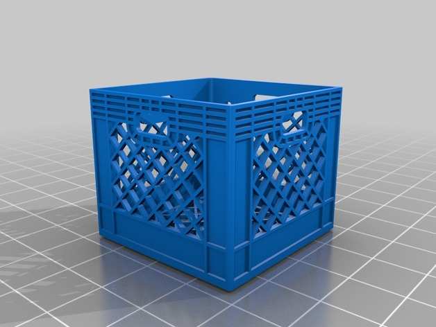 Milk crates 1 10 by unix thingiverse for What to do with milk crates