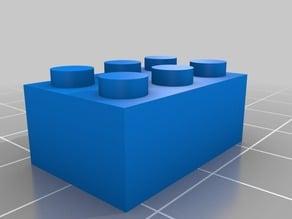 My Customized Parametric Lego Brick 3x2