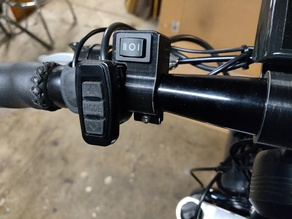 Rocker switch mount for bike handlebar