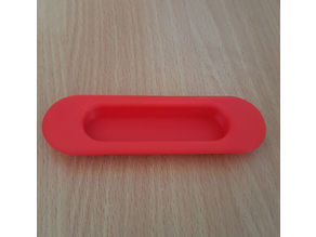 Recessed handle for sliding door